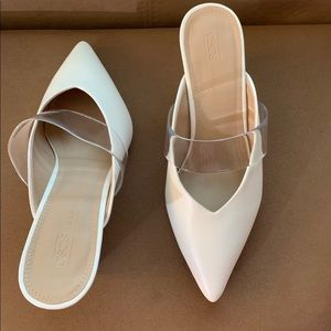 New White ASOS Wedge Heels Size 7 Shoes